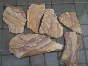 Камень Тигровый песчаник натуральный пластушка